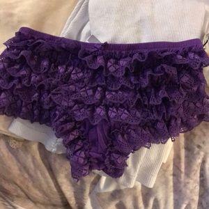 Purple ruffle undies